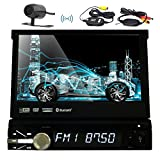 Eincar 7Inch New Radio Stereo-Abnehmbare Frontplatte Auto DVD CD-Player 8 GB GPS Navigationskarte Dash 1DIN Car Stereo FM AM RDS Radio-Empfänger Bluetooth USB SD HD Digital Touch Screen Universal-Headunit + Free Wireless Backup-Kamera