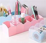 #3: Ascension ® 5 Grids Storage Box Assorted Color - Best for Desk, Drawer, Socks, Undergarments, Cosmetics, Tie, Socks, Bra - Plastic Storage Box Organizer Divider Drawer (Multi colour) (Set of 2)