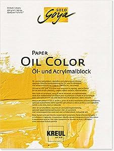 Unbekannt Solo Goya Paper Oil Color, Aceite y acrílico Veces Bloque, 10Hojas