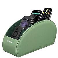حامل سيثون للتحكم عن بعد مع 5 مقصورات - حقيبة جهاز تحكم عن بعد لتخزين التلفزيون وDVD وبلو راي ومشغل الوسائط وأجهزة التحكم في السخان ولون الأفوكادو الأخضر