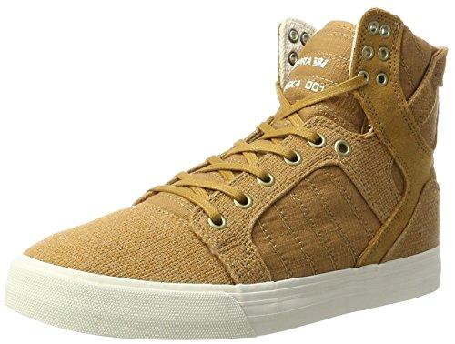 Supra Herren Skytop Sneaker, Gelb (Tan-Bone), 44 EU (Skytop Sneakers Supra)