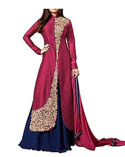 Royal Export Women\'s Bangalori Rama Anarkali Semi-Stitched Salwar Suit
