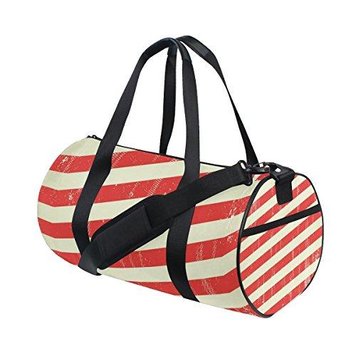 COOSUN Amerikanische Stars and Strips Reisetasche Schulter-Handy-Sport Gym-Taschen für Männer und Frauen Mittel Mehrfarben