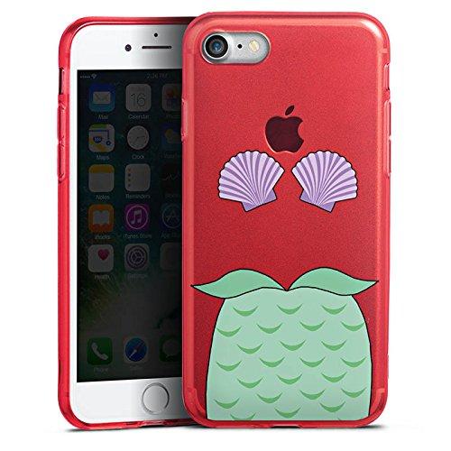 Apple iPhone 8 Silikon Hülle Case Schutzhülle Meerjungfrau Mermaid ohne Hintergrund Silikon Colour Case rot