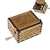 Cree Idear Harry Potter caja de música con grabado de madera vintage cajas de música manualidades coleccionables juguetes regalos