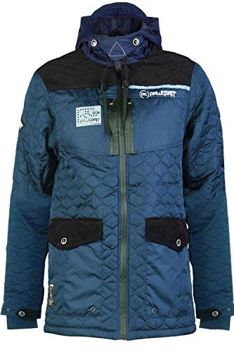 Homme manteau rembourré oxyde rawcraft New matelassé à fermeture éclair doublé chaud veste à capuche pour homme Bleu Marine