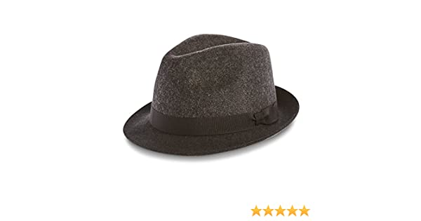 5e56b1cf Marks & Spencer M&S Collection 100% Pure Wool Felt Trilby Hat:  Amazon.co.uk: Clothing
