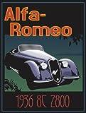 Vintage Alfa Romeo Advertising Poster A3 Reprint