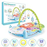 Gioca a Mat For Baby, Baby Play Tappeto Fitness, Baby Mat con Play Bow And Feet Piano, Gift For Baby, Forza Training Frame Piano Music Tappeto Coperta