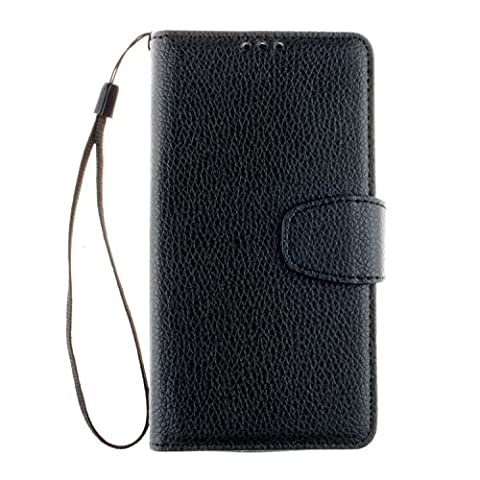 PU Leder schwarz Schutzhülle für LGLBello(D331,D335)/LGLPrime(D337) case Wallet Schale Tasche