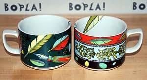 PLUME vert bOPLA! tasse à café-porcelaine-paradise