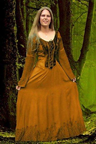 Bäres Mittelalter Zofenkleid - Damen Eire Rost