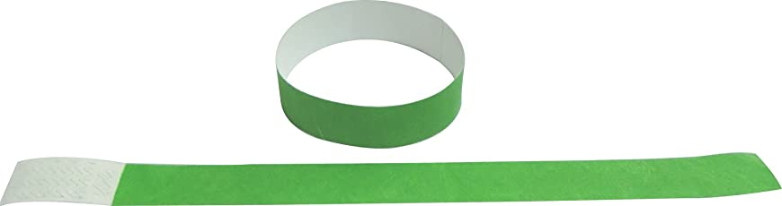 1000 Pcs Neon Green 1 Inch Tyvek Wristbands For Events/ Parties/ Identification