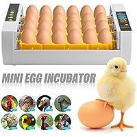 Binghotfire Inkubator, Vollautomatische Brutmaschine, Flächenbrüter Brüter Inkubator Motorbrüter Hühner, Brutapparat mit LED Temperaturanzeige und Präzieser Temperaturfühler, Temperatur und Feuchtigkeitsregulierung, für 24Hühnereier