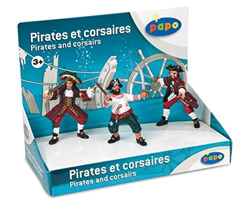 Papo - 39440 - Boîte Présentoir - Pirates Et Corsaire - 3 Figurines