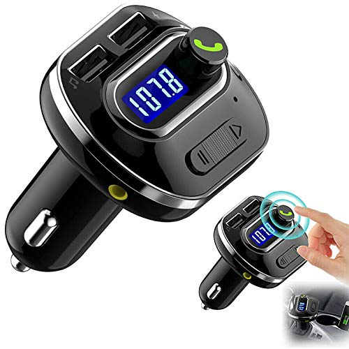 Wellouis Wireless Bluetooth Car Handsfree AUX Audio Receiver FM Adapter USB Charger -