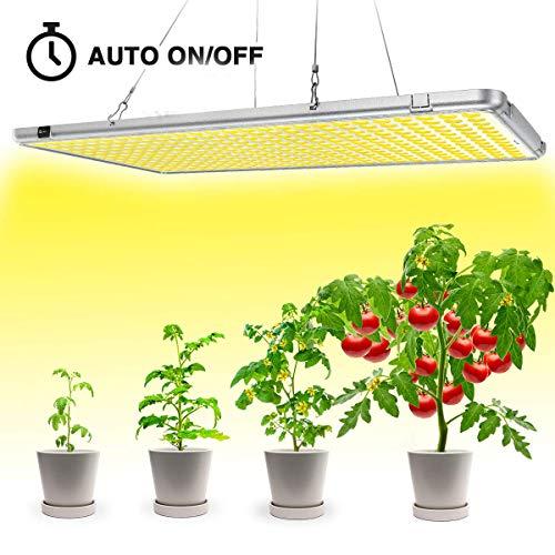 Bozily Pflanzenlampe LED, Sonnenähnliche Vollspektrum, Klappbare Pflanzenlampen, Auto On/Off Timing 12/15/18/24H, 338 LEDs, 300W, für Zimmerpflanzen, Blumen, Gemüse