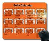 2019-2020 Kalender-Mauspad, Kalenderjahr Gaming-Mauspad, Kalenderplaner 2019 mit Feiertagsdetails