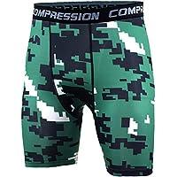 Pantalones Cortos De Running Para Hombre - Pantalon Deportivos Compresión