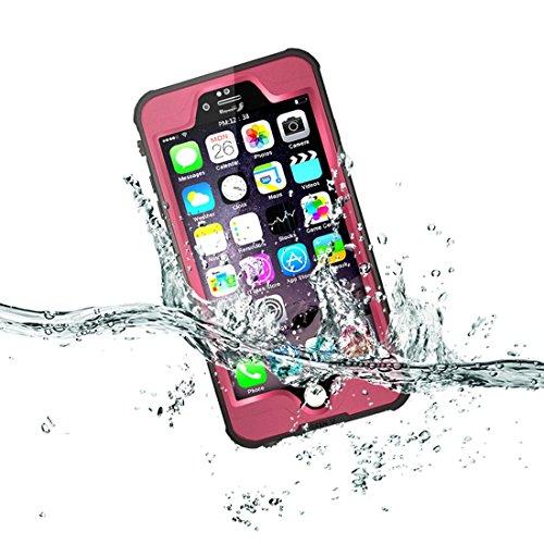 """Forepin® 10 Farben Wasserdicht hülle hart Hard Case für iPhone 6 6S 4.7"""" Original Redpepper Tauchen Unterwasser -Schutzhülle Shell Hybrid Armor Back Cover stoßfest Schwerlast Outdoor Case Tasche - sch Hot Pink"""