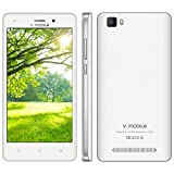 Moviles Libres Baratos 4G V mobile A10 8GB ROM Smartphone Baratos Libres 5 '' HD Android 7 Quad Core Cámara Doble 5MP 2MP Telefono Movil Libres Baratos Batería 2800mAh GPS Bluetooth WIFI (Blanco)