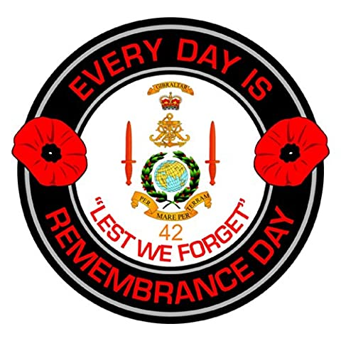 Royal Marines 42 Commando Remembrance Day Inside Car Window Clear Cling Sticker