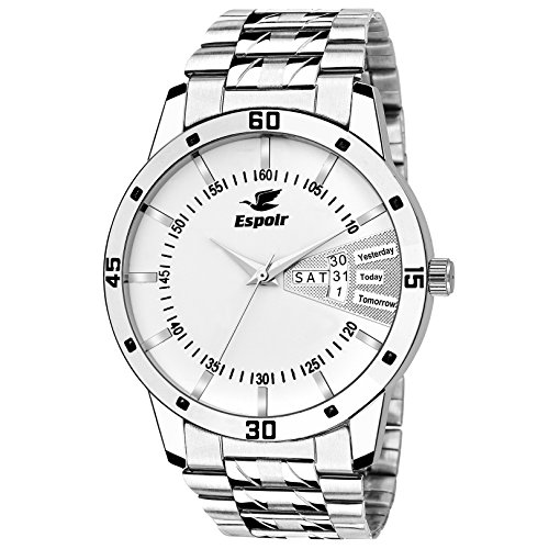 Espoir Analog White Day and Date Dial Men's Watch 2038-WH