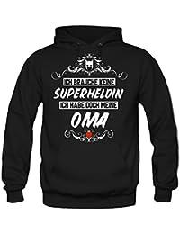 Ich brauche keine Superheldin Kapuzenpullover | Großmutter | Held | Hero | Freundschaft | Geburtstags | Männer | Herren | Geschenk | Fun | Oma