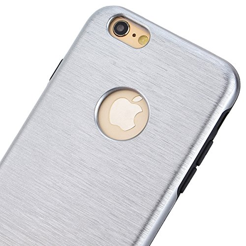 HB-Int 3 in 1 Case Cover Duplice Ibrido per iPhone 6 Plus / iPhone 6S Plus (5.5 pollici) Stampato Design PC + Silicone ibrido Impatto Grande Difensore Custodia Combo Duro Morbido Cases Covers [Complet Grigio