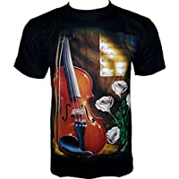 Rock Chang -  T-shirt - Collo a U  - Maniche corte - Uomo - Tiger T-shirt Rider