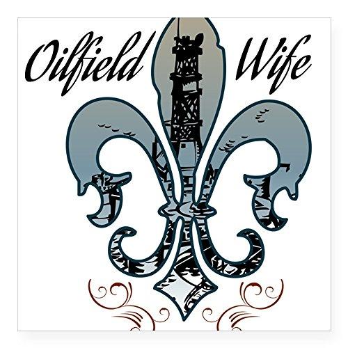 CafePress - Oilfield Wife Sticker - Square Bumper Sticker Car Decal, 3