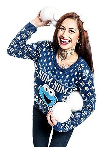 Sesamstraße Cookie Monster Christmas Sweater Strick-Sweater multicolour S