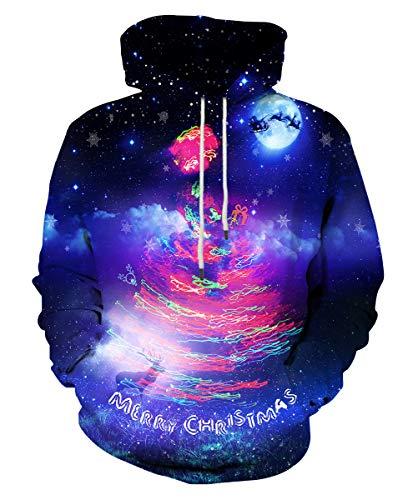 c6e50a5490eb8 Syaimn Unisex 3D Printed Hoodies Casual Workout Hoodie Sweater Sweatshirt  Large