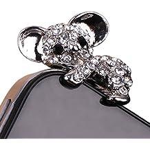 Hosaire 1X Staubstecker iphone Dust plugs 3.5mm Silber für iPhone,iPad,Samsung usw Handy-Zubehör