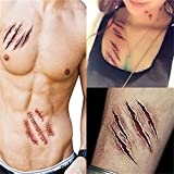 5PCS Halloween Narben Fake Wunden Tattoo Aufkleber Make Up Sticker