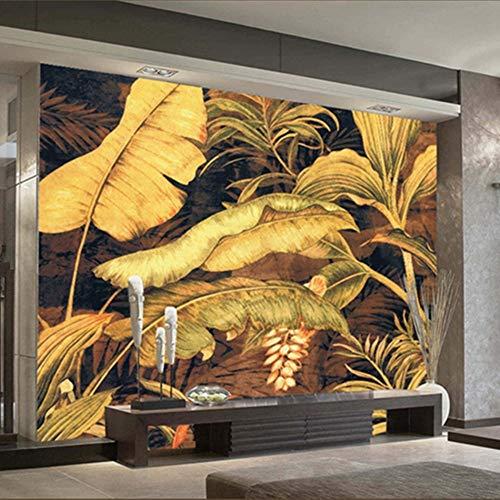 YUANLINGWEI Wandbild Tapete Anpassen 3D Foto Wandbild Tapete Natur Banane Blätter Landschaft Abstrakte Leinwand Wohnkultur Für Wohnzimmer Tv Sofa Hintergrund,50Cm (H) X 70Cm (W)