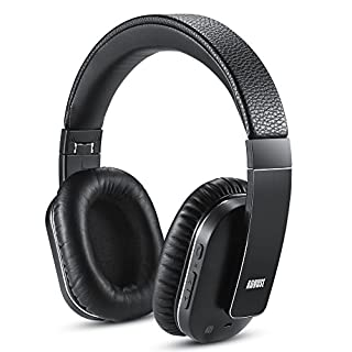 Bluetooth Wireless Headphones with ANC - August EP750 - Active Noise Cancelling Headset for Laptops/Smartphones / Tablets - Reduce Air Travel Engine Noise