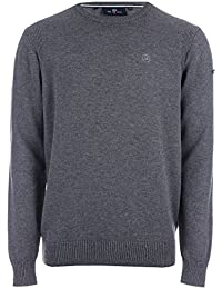 Duck and Cover Mens Altitude Crew Neck Jumper In Mid Grey MARL