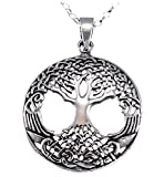 DIOOR Schmuck für Frauen Geschenk für Damen Mädchen Kristall/Silber/Gold Anhänger Halskette Sterling Silber Life Tree Anhänger Halskette