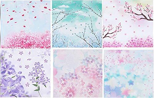 Doitsa Origami Dream Garden Doppelseite 6 Farbe Insgesamt 60 Blatt 14.7 * 14.7cm