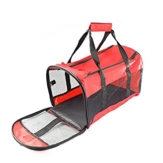 new portable folding dog cat puppy pet carrier travel fabric kennel crate bag shopmonk (red) New Portable Folding Dog Cat Puppy Pet Carrier Travel Fabric Kennel Crate Bag Shopmonk (Red) 512KuaBbSNL