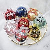 Bolas de Navidad personalizadas para decorar el árbol - Adornos navideños Ornamento Decoraciones colgantes de navidad- Elige Tu Regalo.