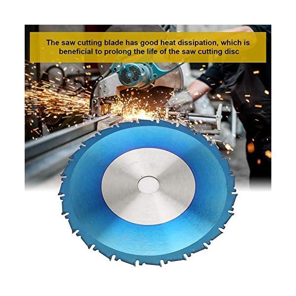 Herramienta de Disco de Corte de Sierra Circular de Chapado Azul de Carburo de 165 * 20 * 2.3 mm Para Corte de Metal Blando de Madera(165 * 2.3 * 20 * 24T)