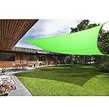 Greenbay Sonnensegel Sonnenschutz Segel Beschattung Segel, UV Schutz für Balkon Terrasse Garten 100% Polyester, Rechteck 3x2m Hellgrün