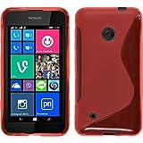 PhoneNatic Case für Nokia Lumia 530 Hülle Silikon rot, S-Style Cover