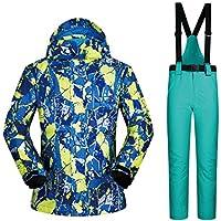Jiuyizhe Chaqueta de esquí de Alta Resistencia a Prueba de Viento para Hombre Chaqueta de Snowboard de Invierno Impermeable al Aire Libre (Color : 03, Size : XL)