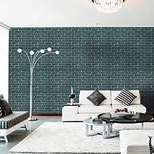 WFYY 45X100cm 3D Vinilo Decorativo de Pared Ladrillo Piedra Rústico Adhesivo Autoadhesivo Rollo de Pared Wallpaper