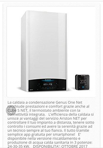Ariston MLN3301114 Caldaia Murale a Condensazione Genus One Net 30, Bianco