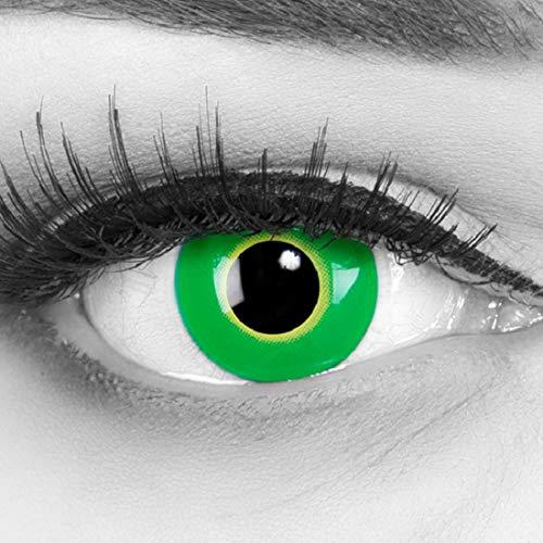 Farbige grüne Kontaktlinsen crazy Kontaktlinsen crazy contact lenses Hulk Green Grüne Kontaktlinsen 1 Paar. Mit Linsenbehälter und 60ml Pflegemittel (Einfache Und Halloween-kostüme 60 Schnelle)