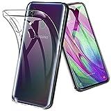 TOPACE Hülle für Samsung Galaxy A40, Ultra Schlank Softschale Silikon TPU Stoßfest Handyhülle Schutzhülle Anti-Fingerabdruck Shock Absorption Cover für Samsung Galaxy A40 (Transparent)